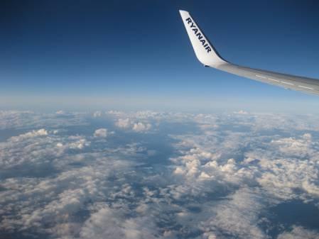 Ryanair over the Alps
