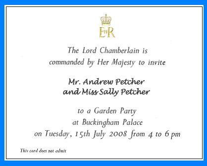 Royal garden party invitation have bag will travel palace invite 3 stopboris Choice Image