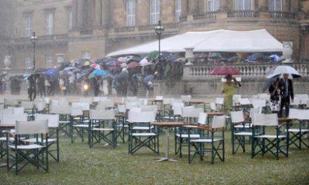 heavy rain at the garden party