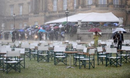 heavy rain at the garden party