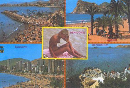 Benidorm, Naked Lady Postcard
