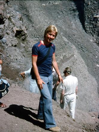 Vesuvius still smoking and active