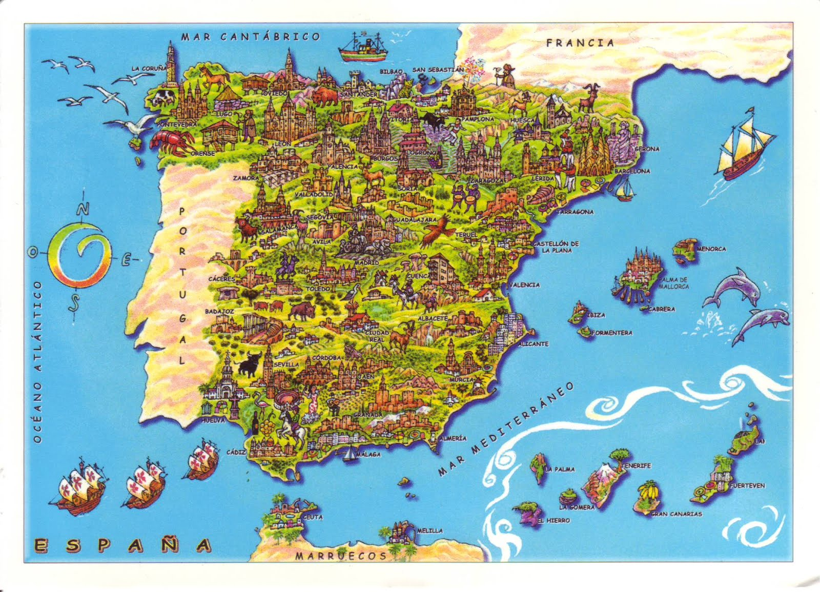 Mountains Of Spain Map.Spain Have Bag Will Travel