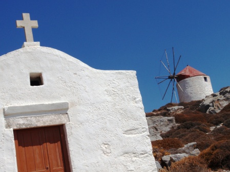 Amorgos Church & Windmill