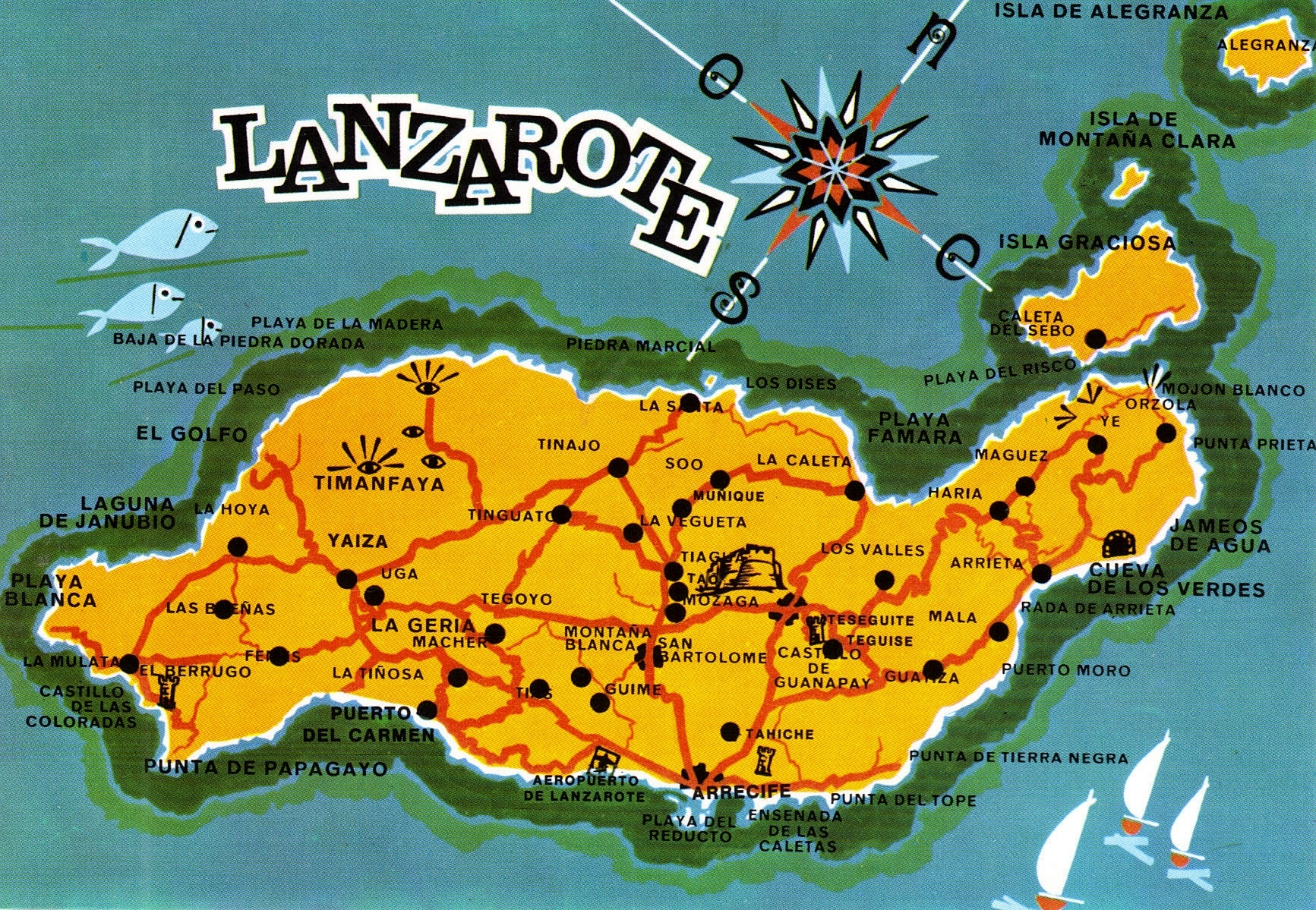 More postcard maps spanish islands have bag will travel lanzarote island map postcard gumiabroncs Image collections