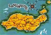 Lanzarote island map postcard