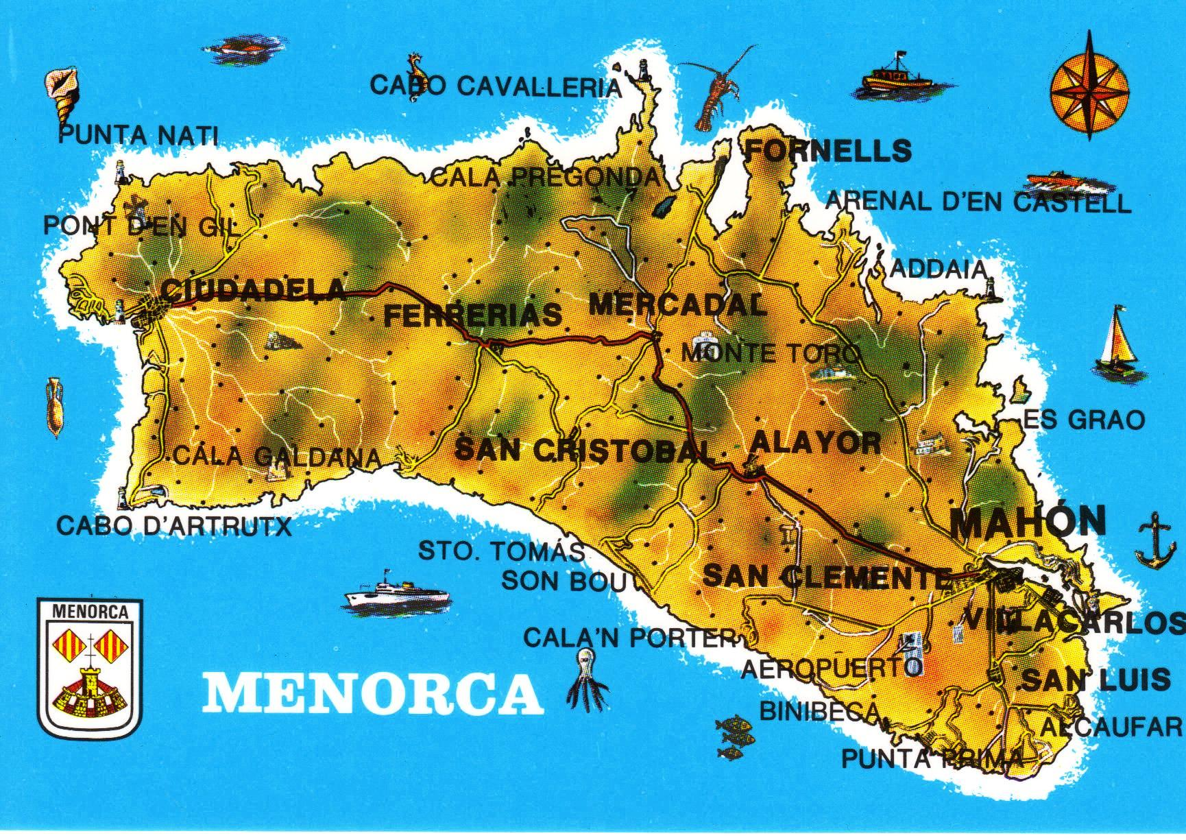 More postcard maps spanish islands have bag will travel minorca island map postcard gumiabroncs Image collections