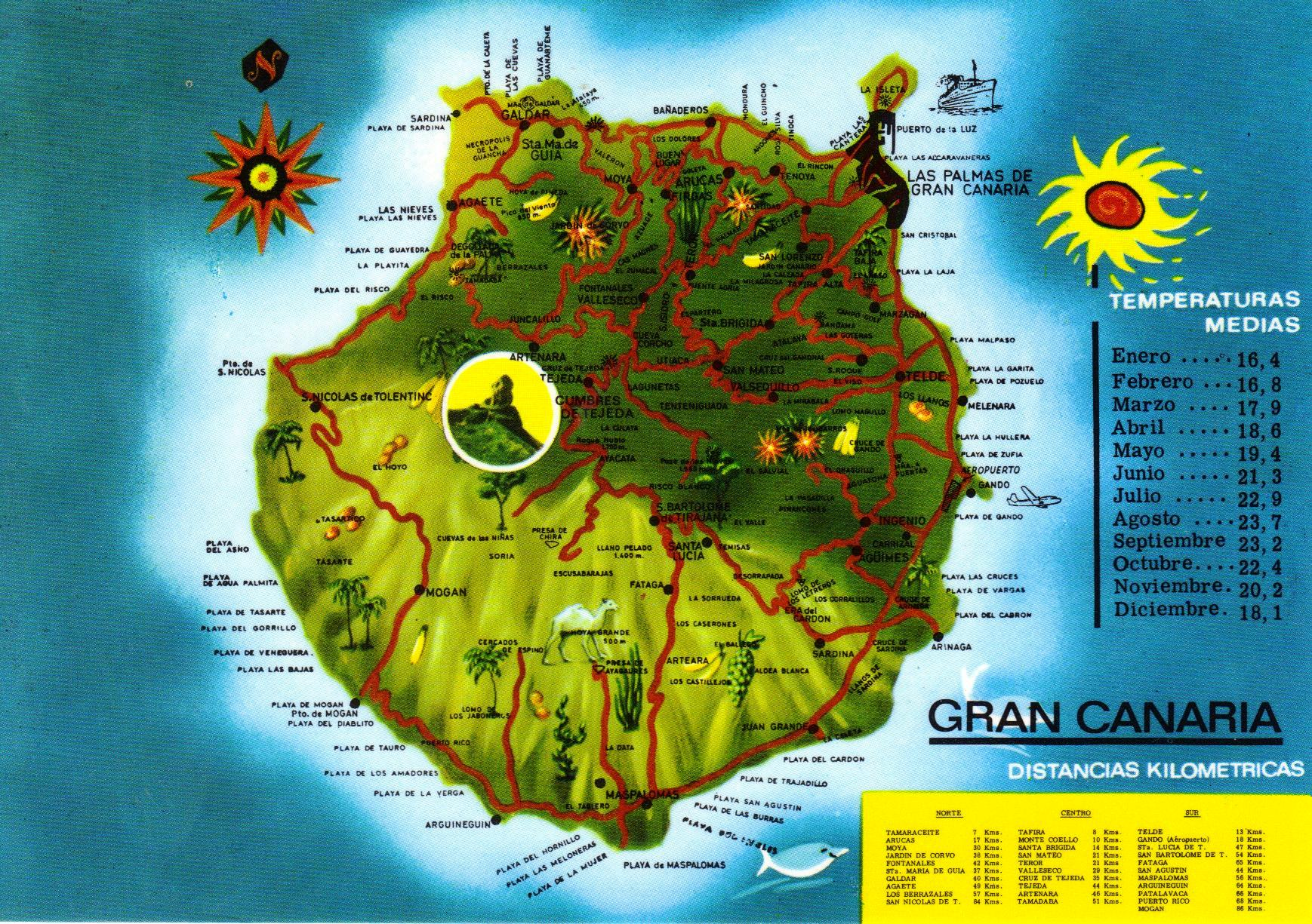 Map Of Spain Gran Canaria.Gran Canaria Have Bag Will Travel