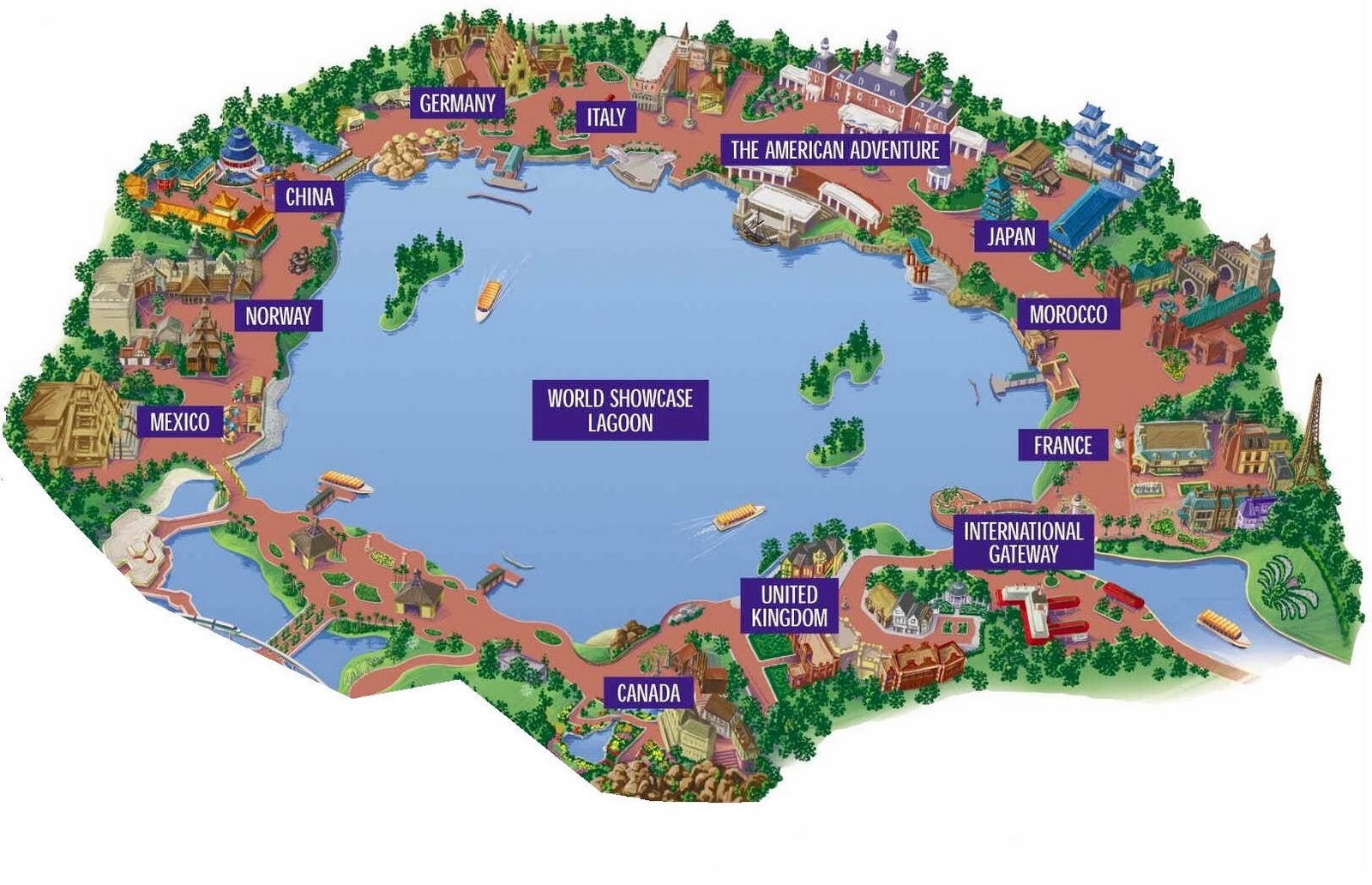 epcot map 2  Have Bag Will Travel