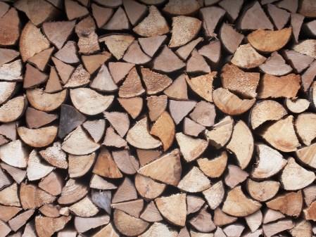 Winter Log Pile 1