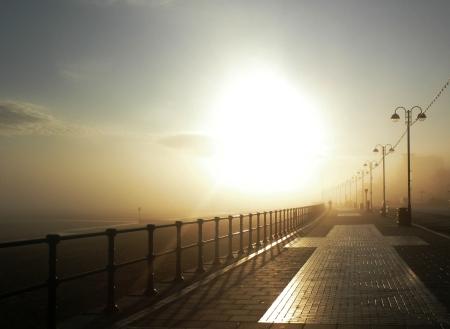 Cleethorpes Promenade in the Fog