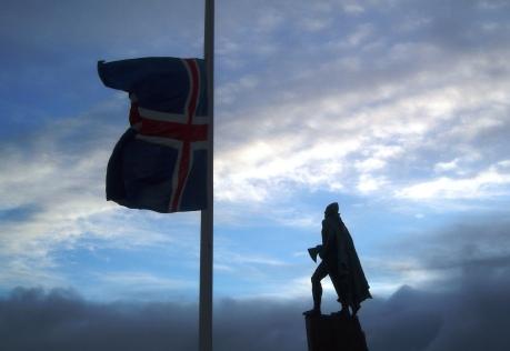 Lief Ericson Statue Reykjavik Iceland