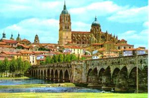 Salamanca Roman Bridge and Cathedrals