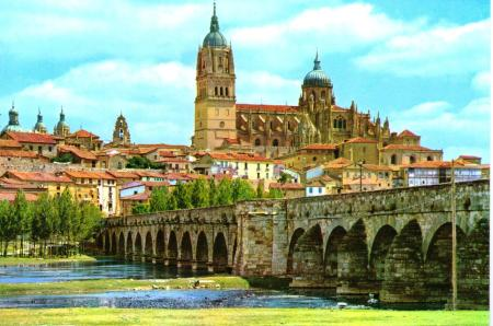 Salamanca Roman Bridge and Cathedrals
