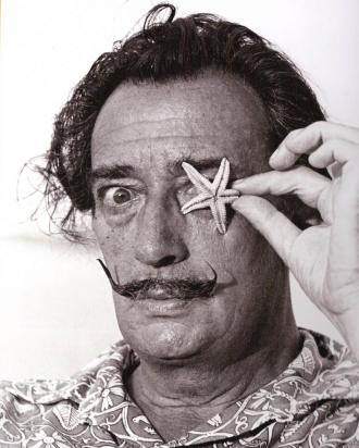 Salvador Dali Surrealist Artist with Sea Shell