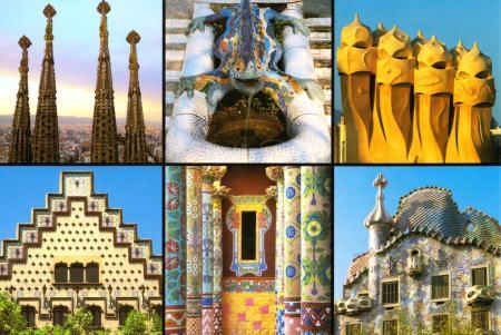 Barcelona Gaudi Postcard