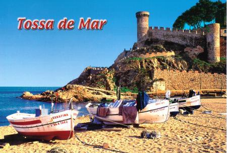 Tossa de Mar Costa Brava Postcard