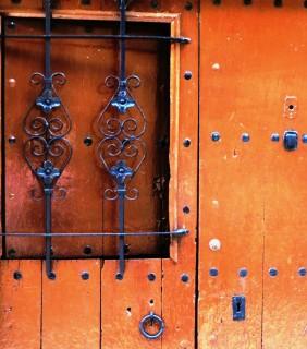 Catalonia Wooden Door Medieval Besalu