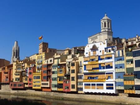 Girona Coloured Houses Catalonia Spain