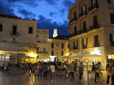 Bari Night time Puglia Italy