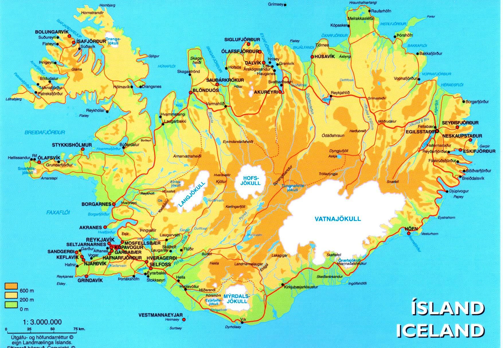 Grand Tour – Tourist Map Of Iceland