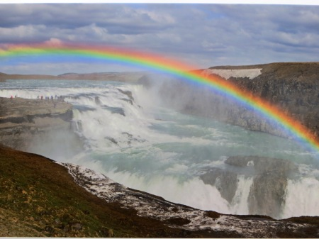 Gullfoss Falls Iceland Waterfall