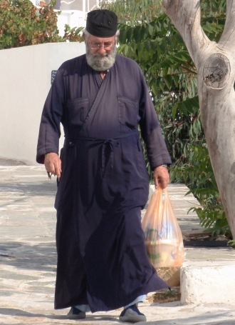 Greek Priest Island of Milos