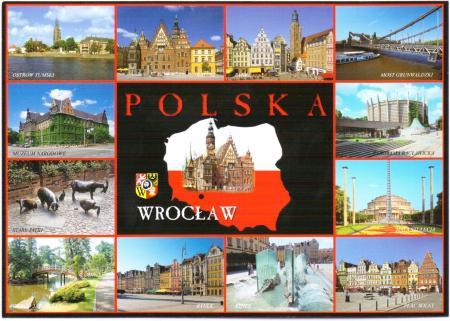 Wroclaw Poland Postcard