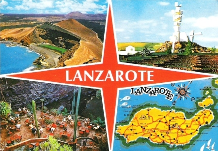 Lanzarote Postcard Multi Picture
