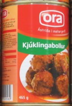 Iceland Meat Balls in a Tin