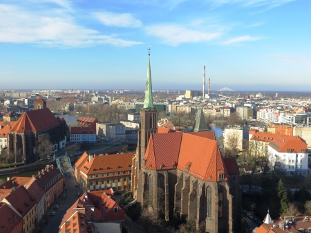 Wroclaw Poland from the Cathedral Tower