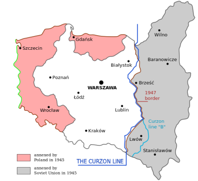 Poland Border Revisions in 1945