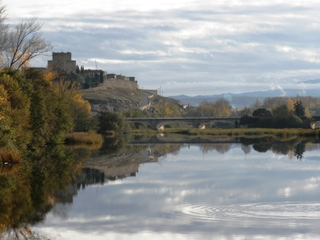 Ciudad Rodrigo river and bridge