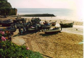 Algarve Beach Fishing Boats