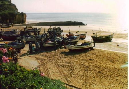 Algarve Beach Fishing Boats