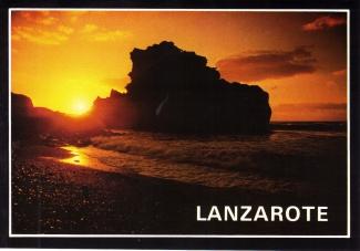Lanzarote sunset postcard 1983