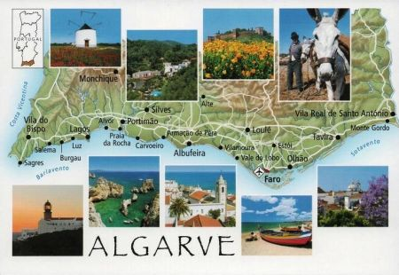 Algarve Postcard Map 3