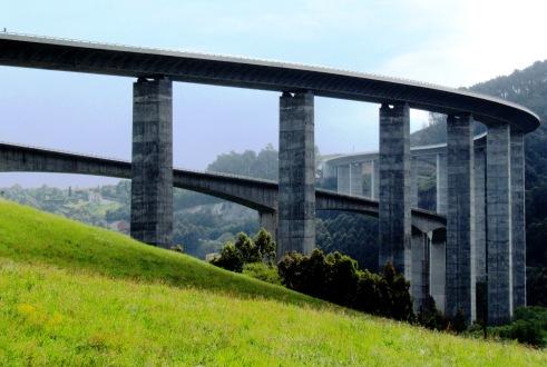Motorway Viaduct Asturias Spain