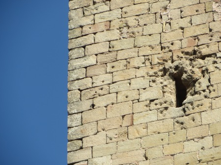 Siguenza Cathedral Civil War Mortar Damage