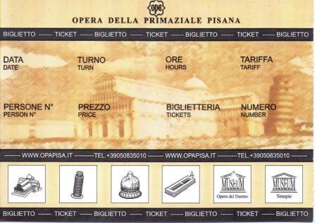 Entrance Ticket - Leaning Tower of Pisa