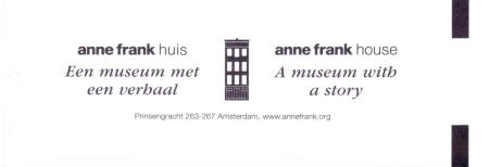 Anne Frank House Entrance Ticket 1