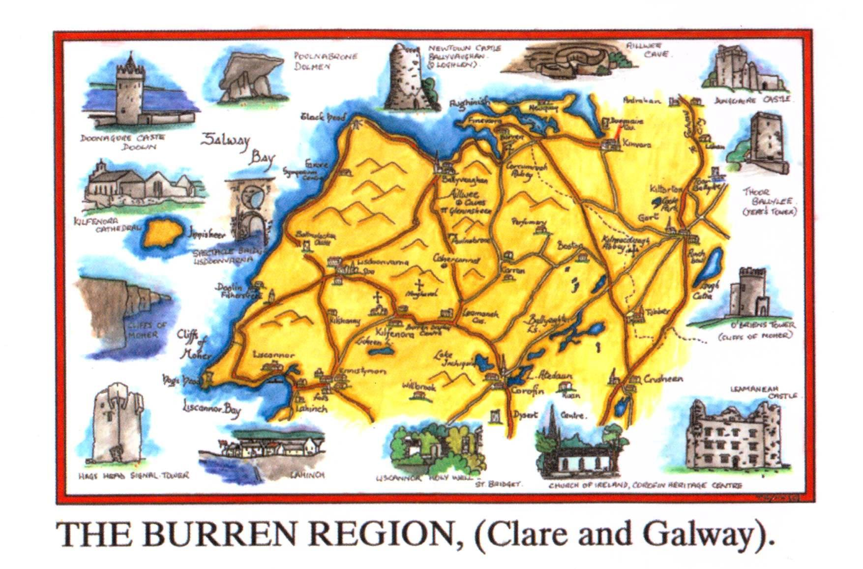 Map Of The Burren Ireland.The Burren Ireland Have Bag Will Travel