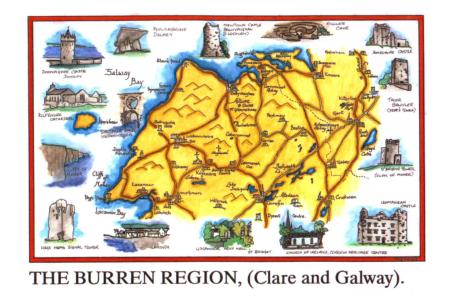 The Burren map Ireland