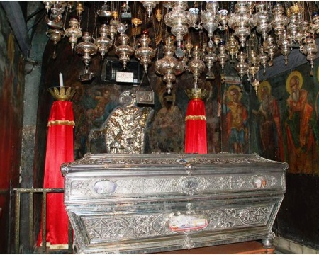 Saint Syridos Siver Coffin