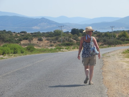Walking in Altinkum Turkey
