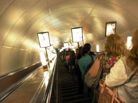 St Petersburg Metro Escalator