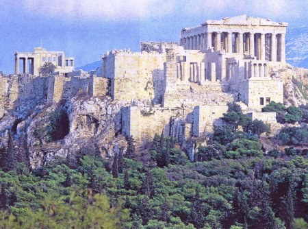 Acropolis and Parthenon Greece Athens