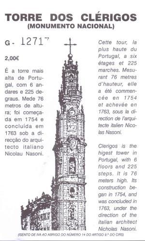 Torre Dos Clérigios, Porto