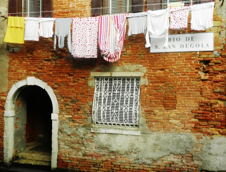 Venice Wall and Washing Line