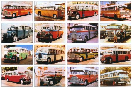 Buses of Malta postcard